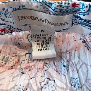 draper's & damon's Tops - Draper's & Damon's paisley printed button down top